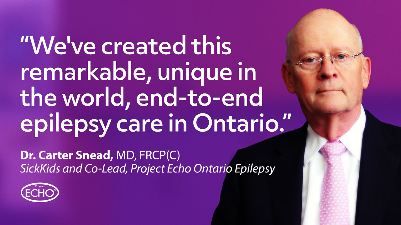 Dr. Carter Snead speaks of the impact of the Project ECHO Epilepsy Across the Lifespan program and the Ontario Epilepsy Network